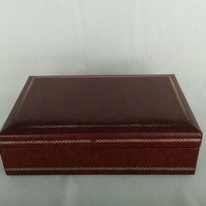 Other - Swank Jewelry Box Brown Gold Velvet